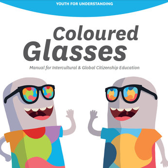Round xlarge coloured glasses eee yfu
